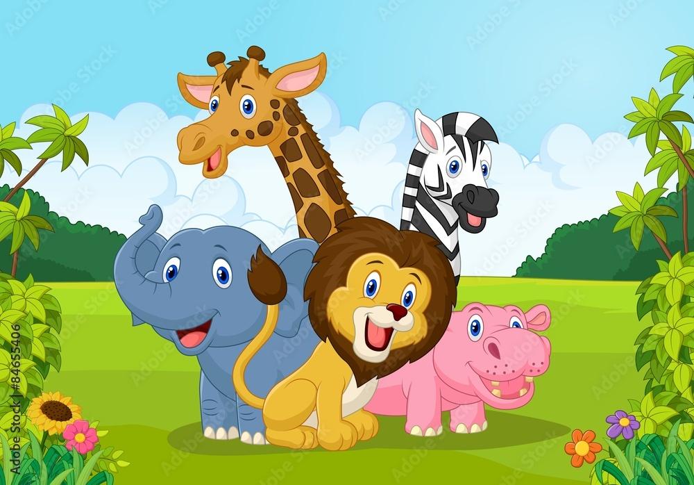 Kolekcja zwierząt Afryki