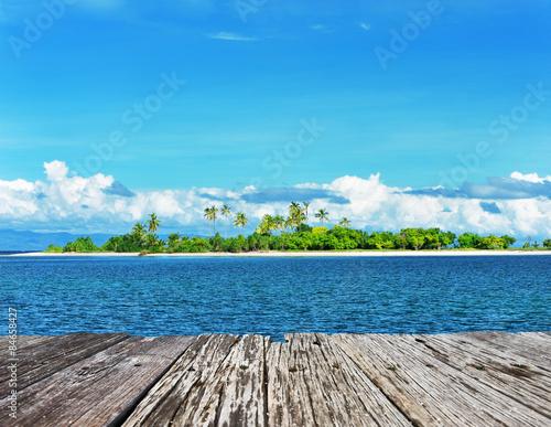 Tuinposter Koraalriffen Uninhabited island
