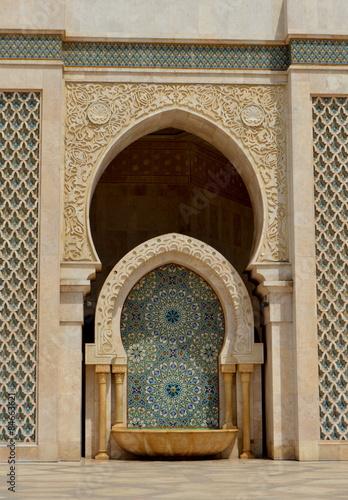 Poster Maroc Detalle de arquitectura de la Mezquita Hassan II