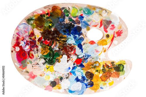 Fotografie, Obraz  Paleta z farbami