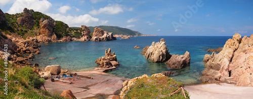 Deurstickers Kust The rocky coast of Sardinia