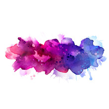Purple And Blue Watercolor Sta...