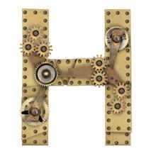 Steampunk Alphabet Letter H