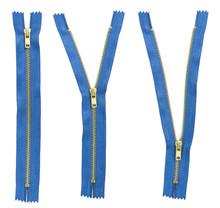 Set Of Three Blue Zipper