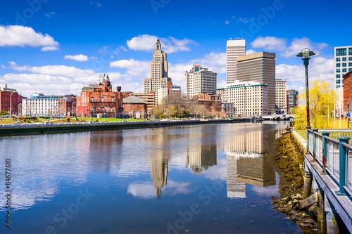 Photo Stands Providence River Skyline