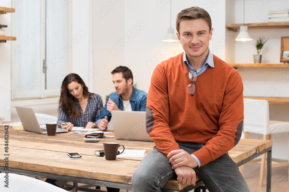 Fototapeta Proud businessman at Office