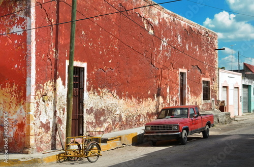 View on house and car in old city Valladolid