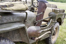 Vintage WWII Jeep With Tools