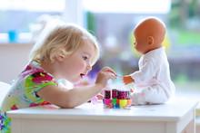 Little Child, Cute Toddler Gir...