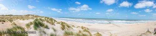 Foto op Plexiglas Noordzee Nordseestrand in Westflandern Belgien