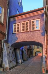 Fototapeta Do biura Ulica Dawna w Warszawie, widok od strony Gnojnej Góry i Brzozowej.