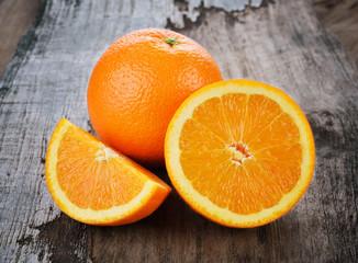 orange on a wooden background