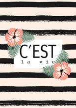 C'est La Vie Striped Card Design