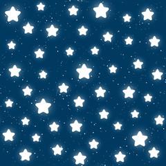 Fototapeta gwiazdki na niebieskim niebie