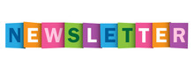 NEWSLETTER Overlapping Letters Vector Icon