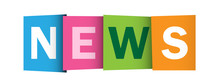NEWS Overlapping Letters Vector Icon