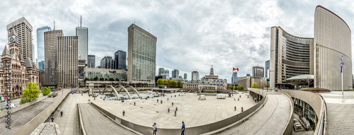 Photo  HDR Panorama Rathaus Platz in Toronto