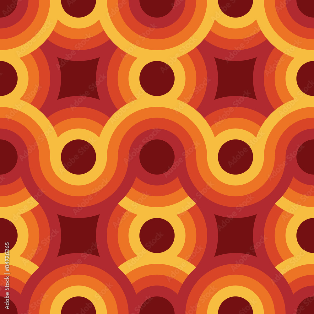 Seamless geometric vintage wallpaper vector illustration
