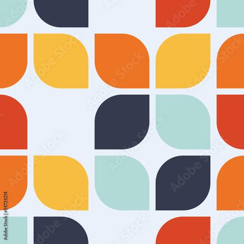 Seamless geometric vintage wallpaper vector illustration плакат