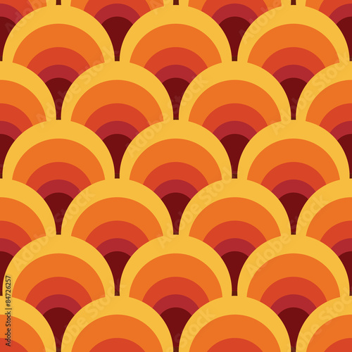 Photographie Seamless geometric vintage wallpaper vector illustration