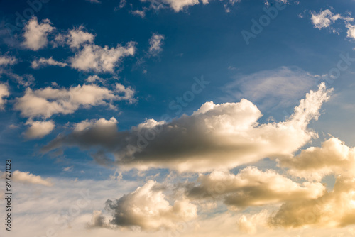Photo Stands Sunset evening scene in Thailand , sky with sunlight silhouette tree l