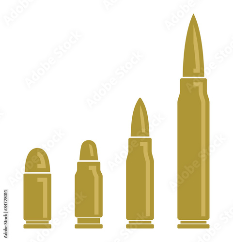 Bullets vector icons Poster Mural XXL