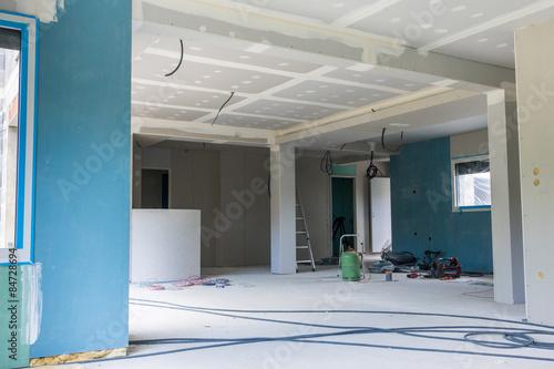 chantier intérieur maison neuve - Buy this stock photo and explore ...