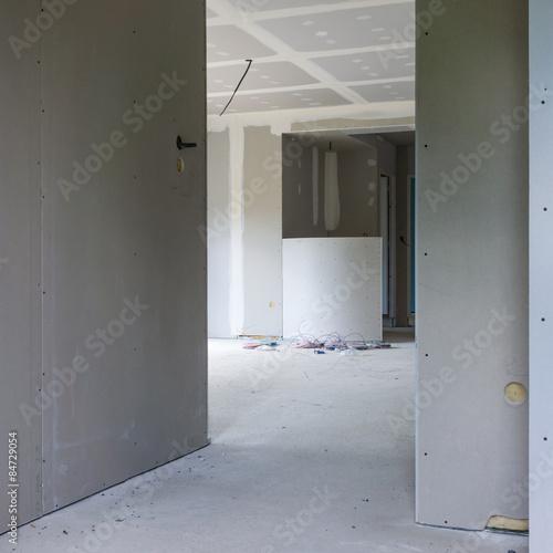 chantier intérieur maison neuve - Buy this stock photo and ...