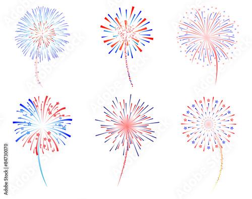Tablou Canvas Fireworks celebration vector illustration