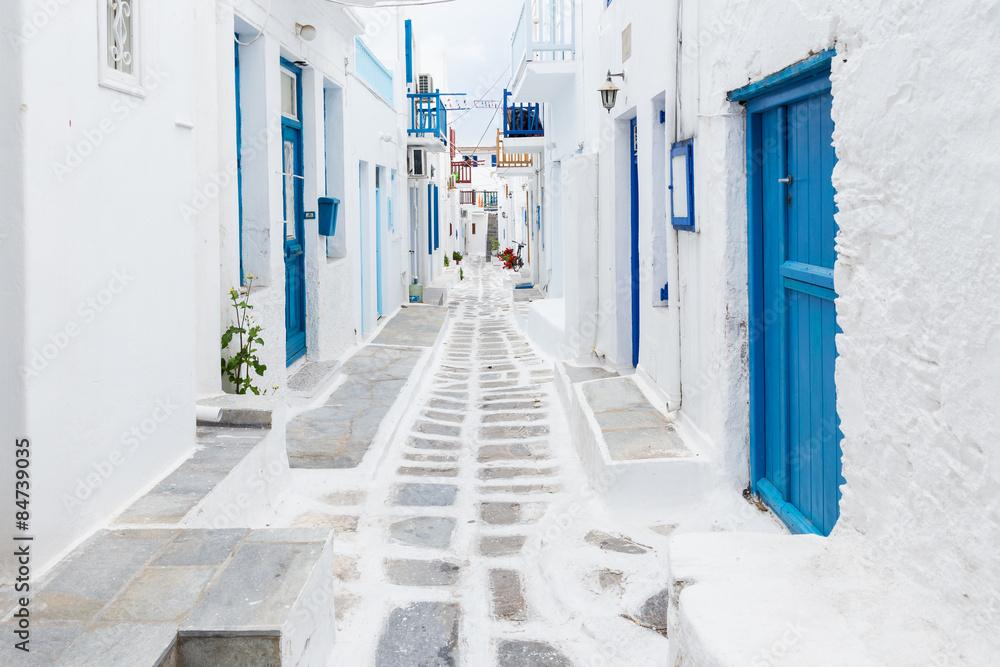 Photo  Mykonos streetview, Greece