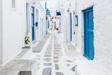 Fototapeta Na drzwi - Mykonos streetview, Greece