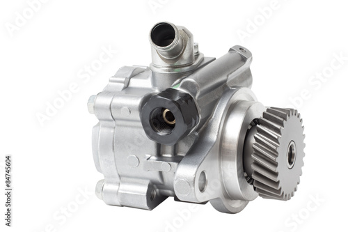 hydraulic power steering pump on a white background engine parts