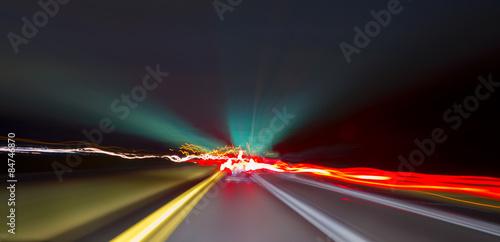 Fotografie, Obraz  Long exposure driving images