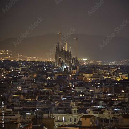 Papiers peints Barcelona Barcelona city night view