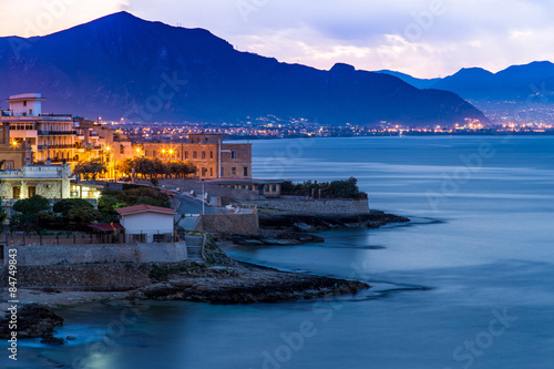 Town of Aspra near Palermo at dawn