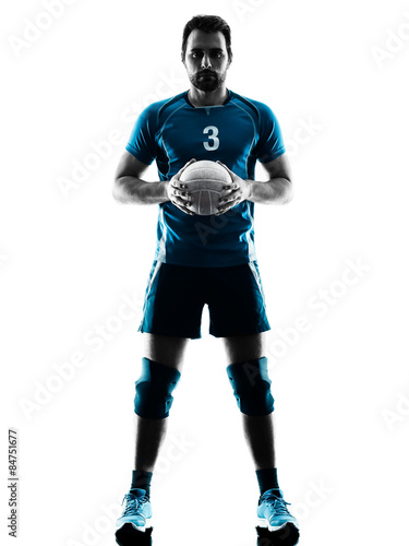 man volleyball  silhouette Tableau sur Toile