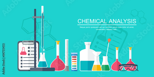 Valokuvatapetti Chemical banner, background, cover