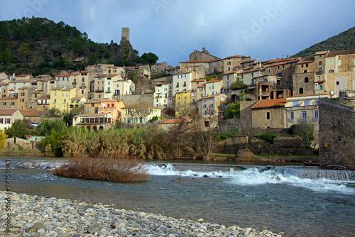 Foto op Plexiglas Palermo The village of Roquebrun in the Languedoc, France