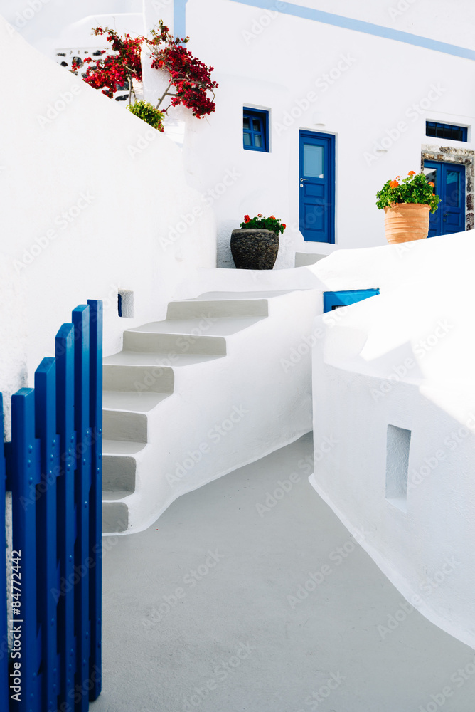 Fototapeta house in Santorini