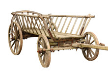 Ancient Wooden Cart Isolated O...
