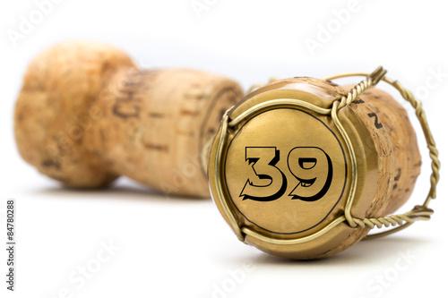 Poster  Champagnerkorken Jubiläum 39 Jahre