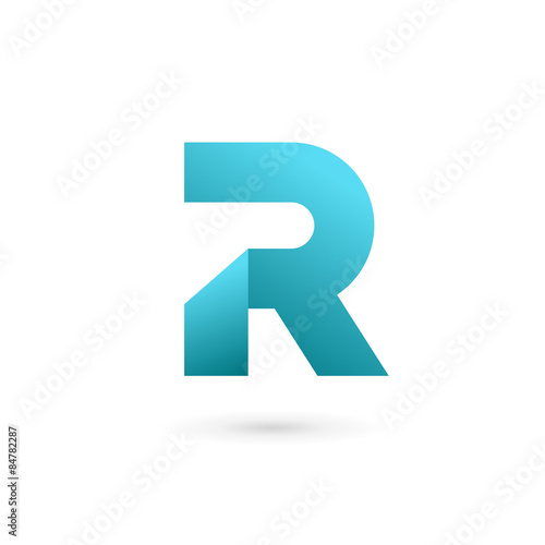 Photo  Letter R logo icon design template elements
