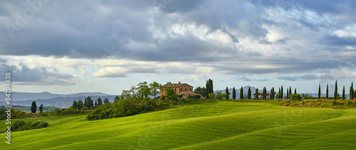 Aluminium Prints Tuscany Typical Tuscan landscape in Italy