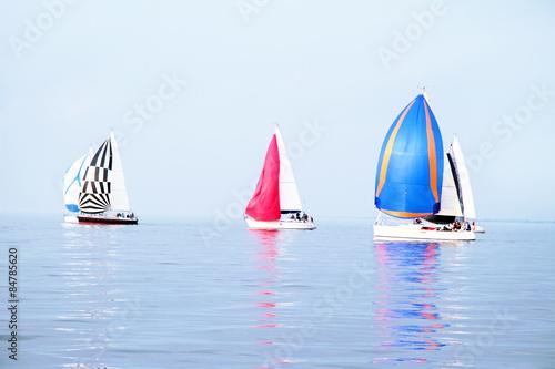 Poster Zeilen Sailing on the IJsselmeer in the Netherlands