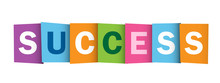 SUCCESS Vector Overlapping Letters Icon