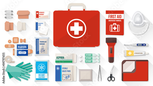 Fotografie, Tablou First aid kit