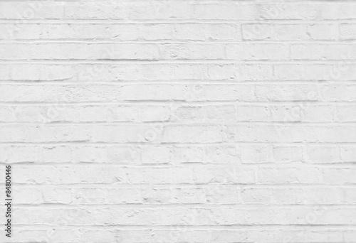 Foto op Plexiglas Wand Seamless white brick wall pattern texture background