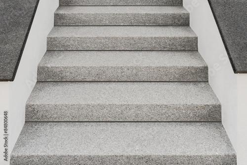 Perfekte Aussentreppe Aus Granit Und Mauern Mit Abdeckplatten