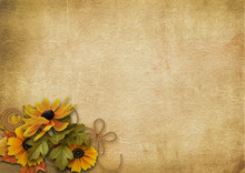 Vintage Background With A Bouquet