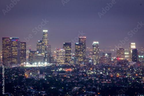 In de dag Aziatische Plekken City of LA at night
